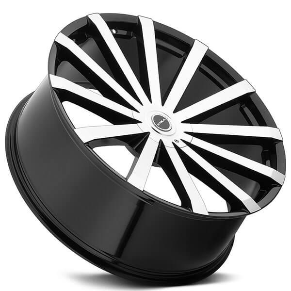 26 Quot Strada Wheels Gabbia Black Machined Rims Std042 6