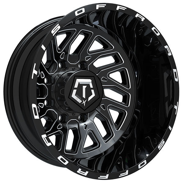 "2017 Dodge Dually >> 20"" TIS Wheels 544BM Dually Gloss Black Milled Off-Road ..."