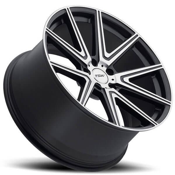 "19"" TSW Wheels Rouge Gunmetal With Mirror Cut Face Rims"
