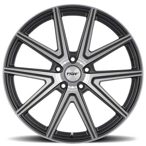 """19"""" Staggered TSW Wheels Rouge Gunmetal With Mirror Cut"""