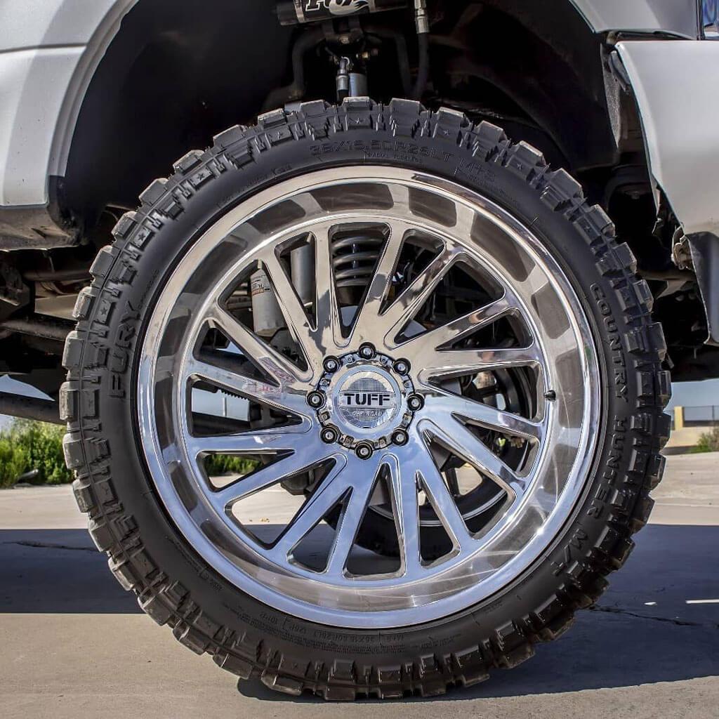 "Dodge Lift Kits >> 22"" Tuff Wheels T2A Chrome Off-Road Rims #TUF005-1"