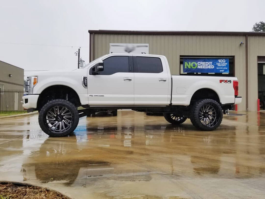 """22"""" Tuff Wheels T2A Gloss Black with Milled Spoke Off-Road ..."""