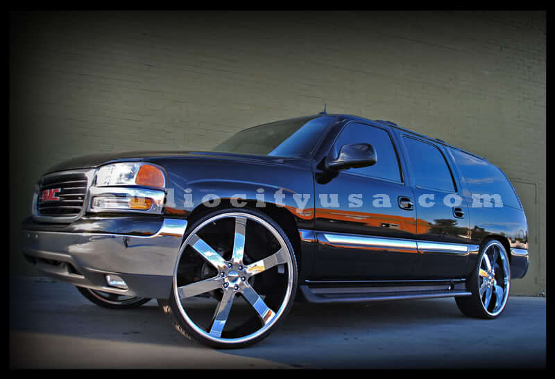 26 U2 Wheels 55 Chrome Rims UT018 3