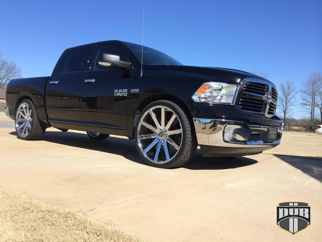 """22"""" Staggered Dub Wheels Shot Calla S120 Chrome Rims #DUB025-2"""