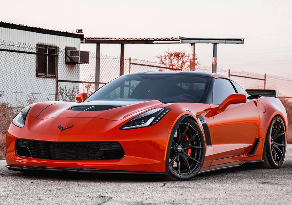 """19/20"""" Staggered Varro Wheels VD01 Satin Black Corvette ..."""