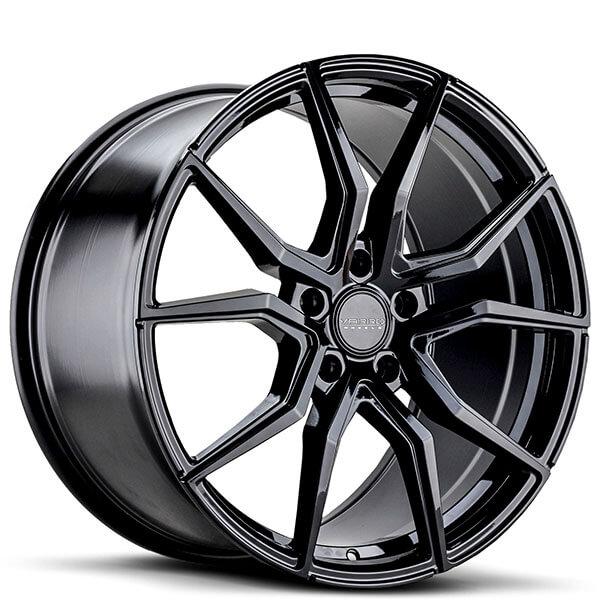 "20"" Staggered Varro Wheels VD19 Gloss Black Rims"