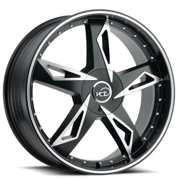 "18"" VCT Wheels V84 Satin Black Machined Rims"