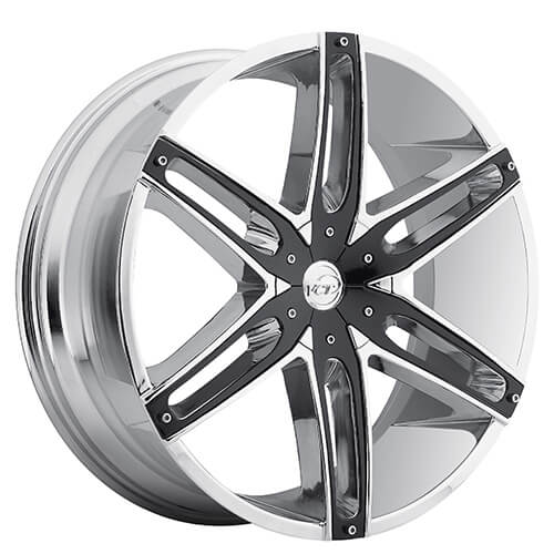 "18"" VCT Wheels V8 Chrome With Black Inserts Rims #VCT048-1"