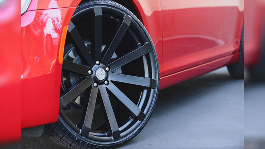 "24x8.5"" Velocity Wheels VW12 Black Rims"