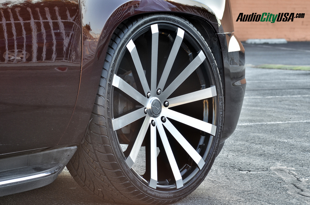 26 Quot Velocity Wheels Vw12 Black Machined Rims Vc017 6