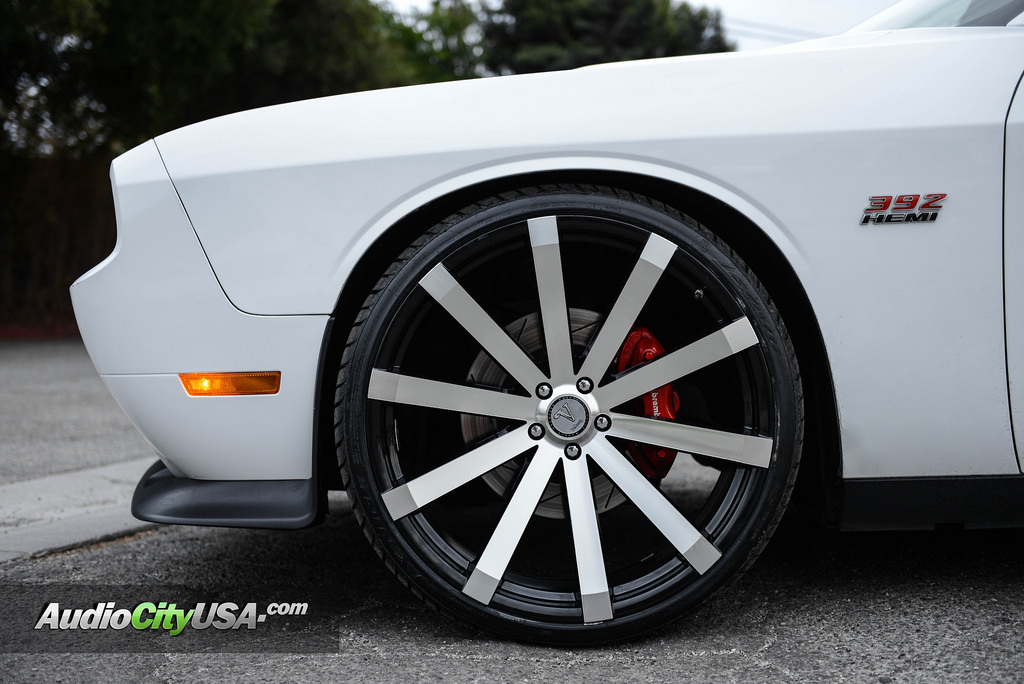 "Dodge Challenger 24 Inch Rims >> 22"" Velocity Wheels VW12 Black Machined Rims #VC017-3"