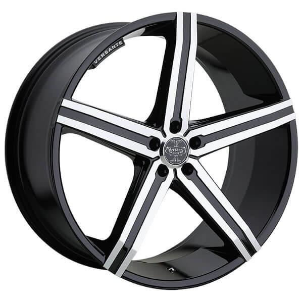 "24"" Versante Wheels VE228 Black Machined Rims"