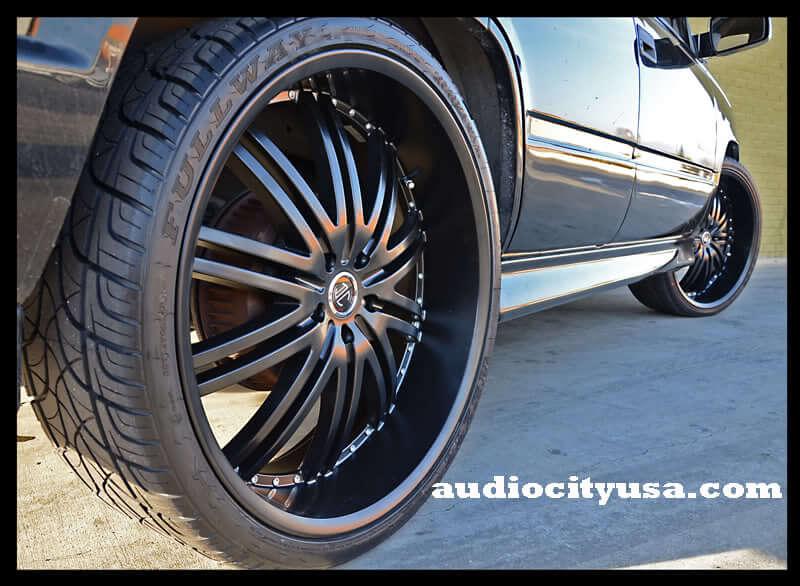 "22"" Staggered Versante Wheels VE212 Matte Black Rims"