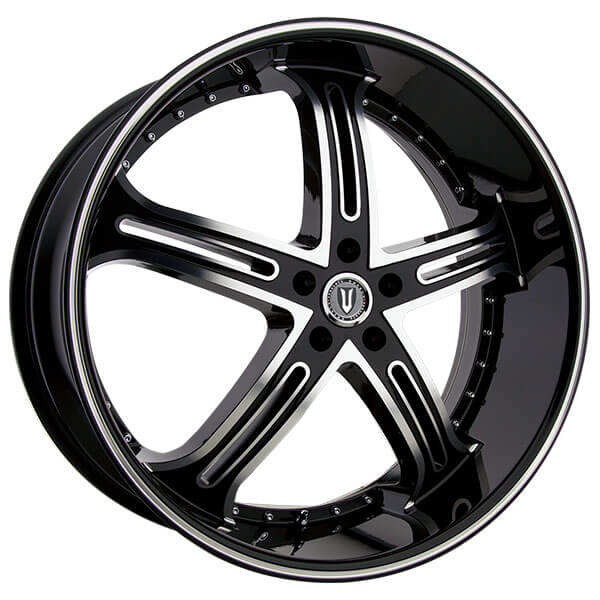 "26"" Versante Wheels VE226 Black Machined Rims"