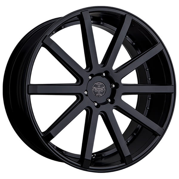 "20"" Versante Wheels VE232 Black Rims"