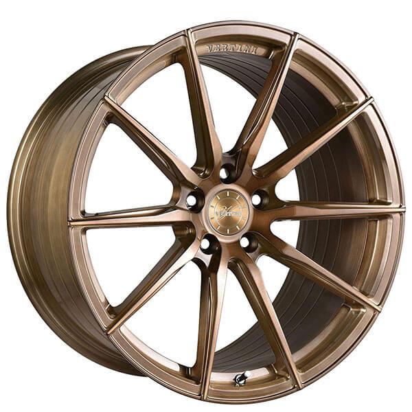 "20"" Staggered Vertini Wheels RFS1.1 Brushed Bronze Rims"