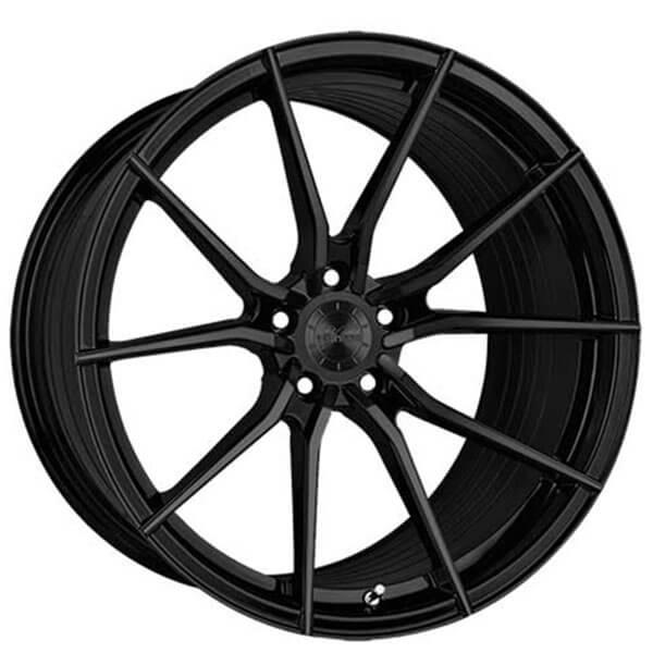 """20"""" Staggered Vertini Wheels RFS1.2 Gloss Black Flow Formed Rims"""