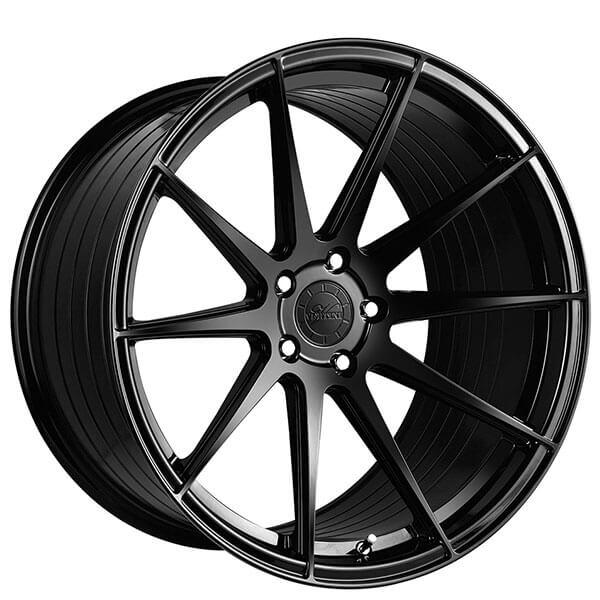 """20"""" Staggered Vertini Wheels RFS1.3 Gloss Black Flow Formed Rims"""