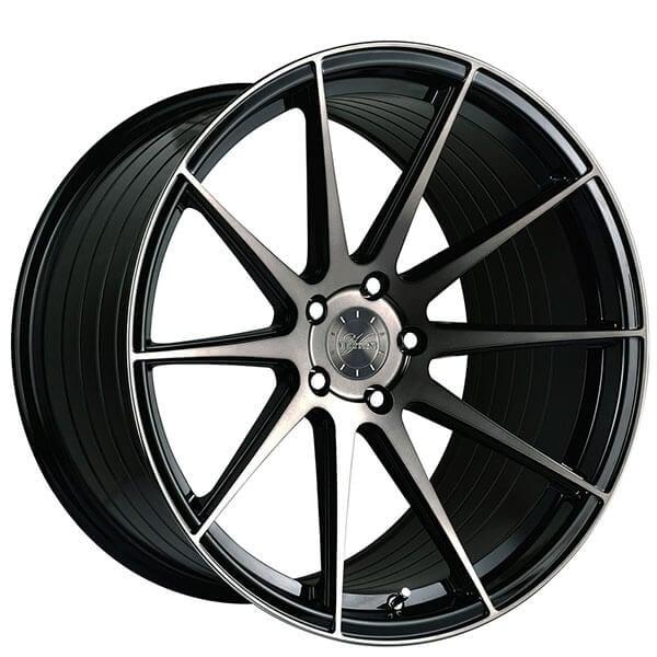 "19"" Staggered Vertini Wheels RFS1.3 Gloss Black Tinted Face Rims"