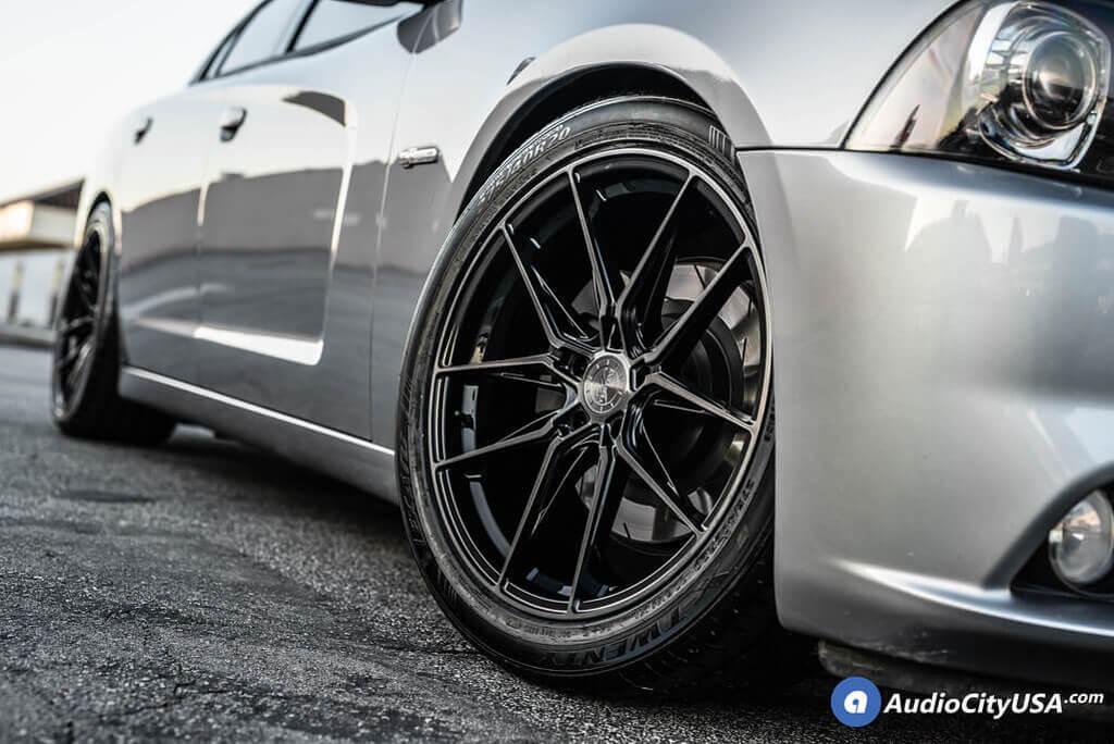 "20"" Vertini Wheels RFS1.8 Dual Black Flow Formed Rims"