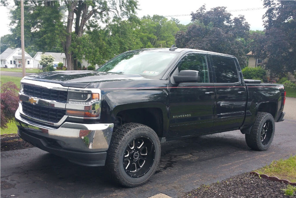 """17"""" Vision Wheels 399 Fury Gloss Black Milled Off-Road ..."""