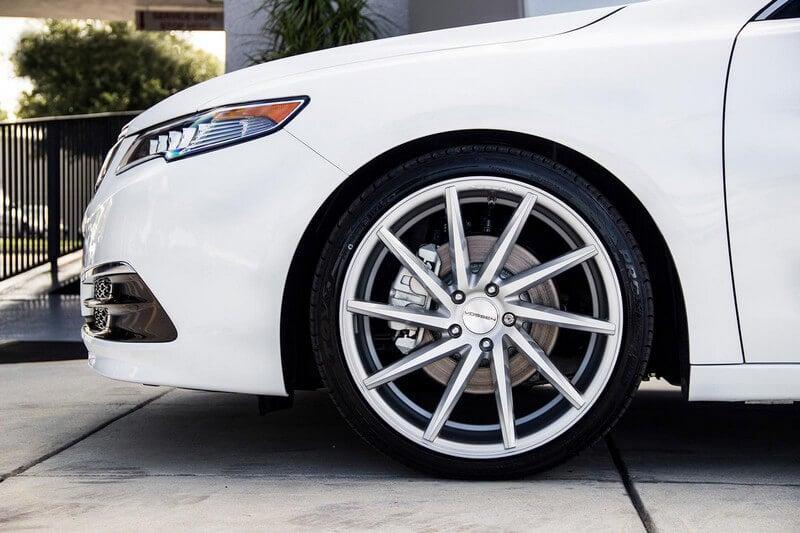 20 Quot Staggered Vossen Wheels Cvt Gloss Silver Rims Vss021 4