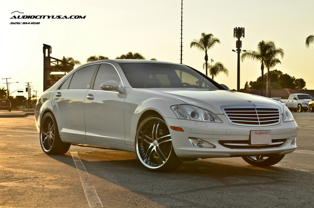 22 staggered xix wheels x15 black machine with ss lip for Mercedes benz usa accessories