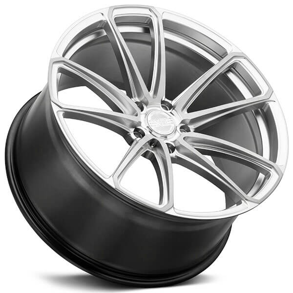 """Five Star Hyundai >> 22"""" Staggered XO Wheels Madrid Hyper Silver with Milled"""