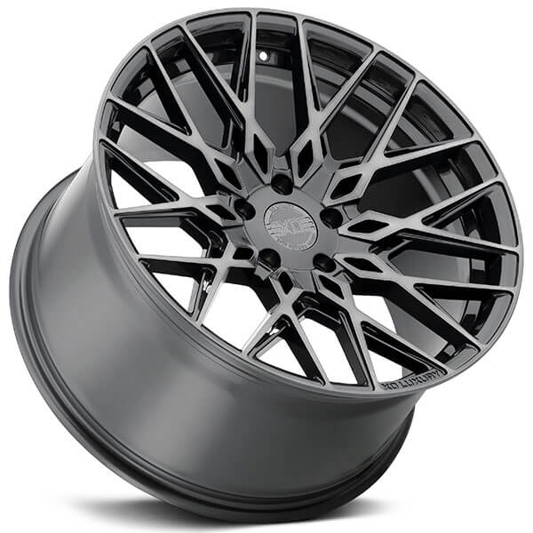 """19"""" Staggered XO Wheels Phoenix Gunmetal with Brushed Face Rotary Forged Rims"""