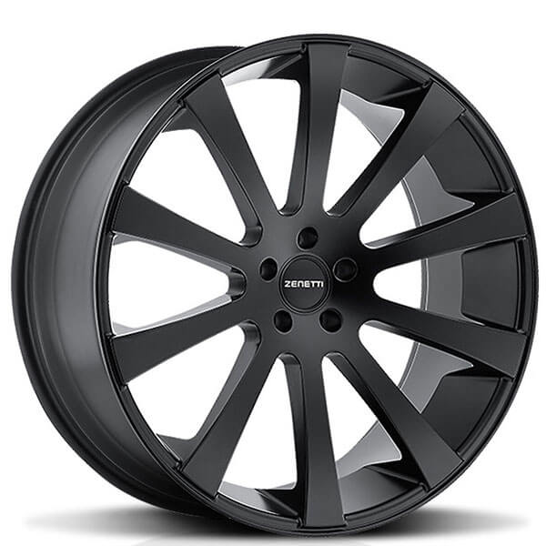 Zenetti Wheels Aspen Satin Black Rims