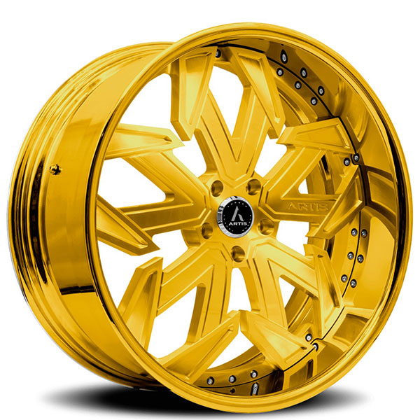 "26"" Artis Forged Wheels Lafayette Gold Rims #ATF085-10"