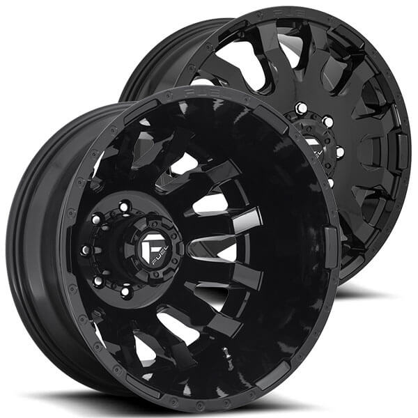 "2017 Dodge Dually >> 20"" Fuel Wheels D675 Blitz Dually Gloss Black Off-Road Rims #FL254-1"