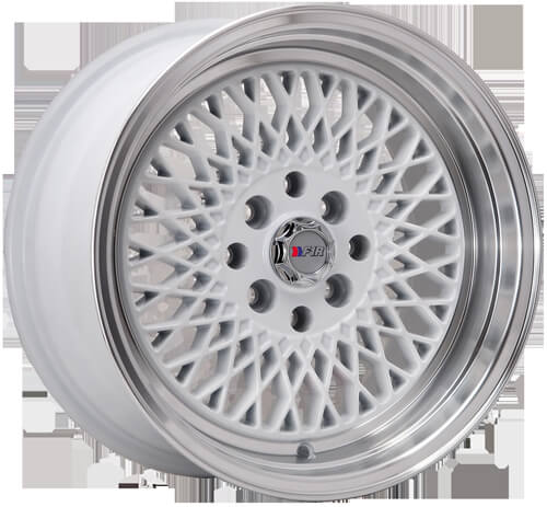 """15"""" F1R Wheels F01 White JDM Style Rims #FOR002-1"""