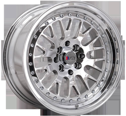 "3 Lift Kit >> 16"" F1R Wheels F02 Chrome JDM Style Rims #FOR012-2"