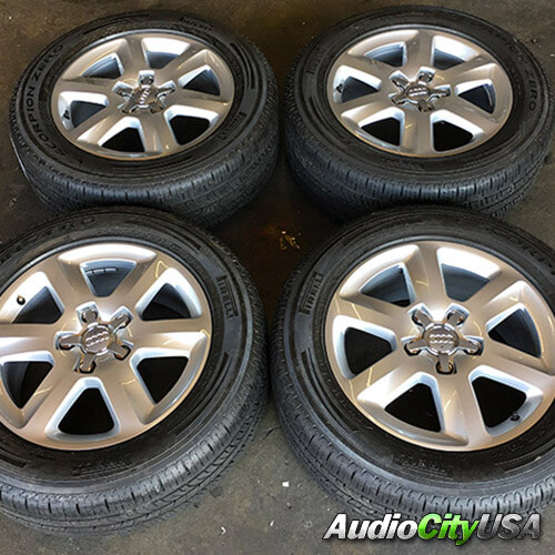 "18"" 2015 AUDI Q7 OEM FACTORY WHEELS RIMS AND TIRES PKG (USED)"