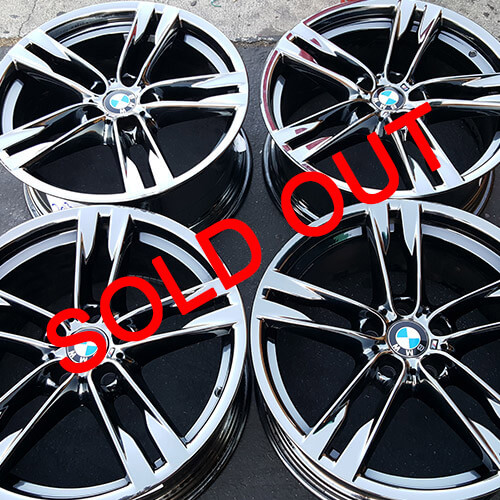 "20"" 2013 BMW 6 SERIES OEM FACTORY WHEELS BLACK CHROME RIMS ONLY (USED)"
