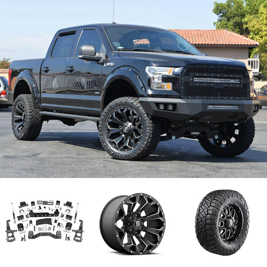 Ford F150 Rims >> 2016 Ford F 150 22x10 Wheels Tires Suspension Package Deal