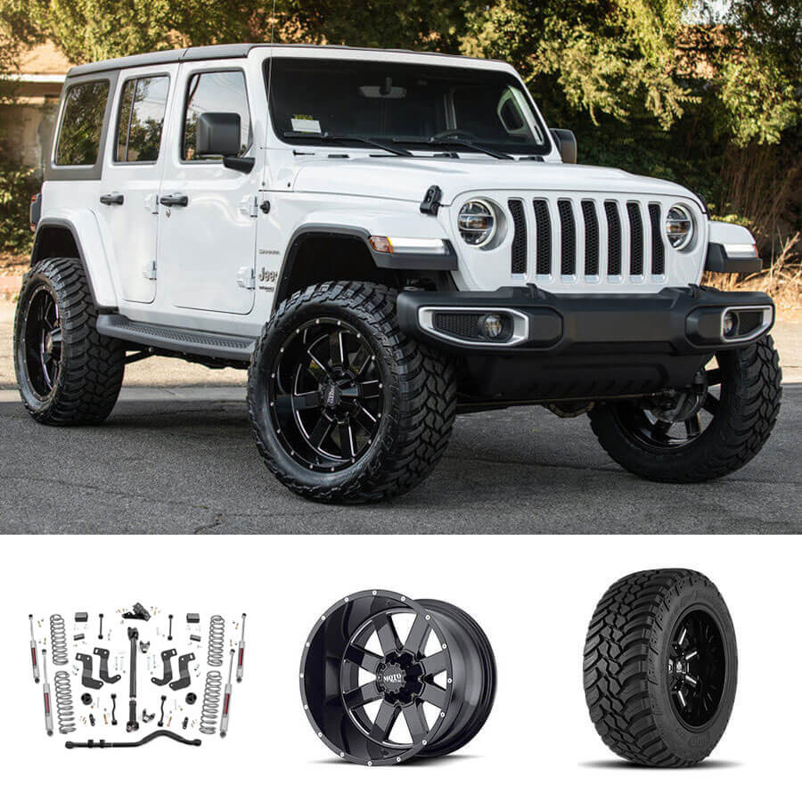 "2018 Jeep Wrangler JL Unlimited 22x10"" Wheels + Tires"