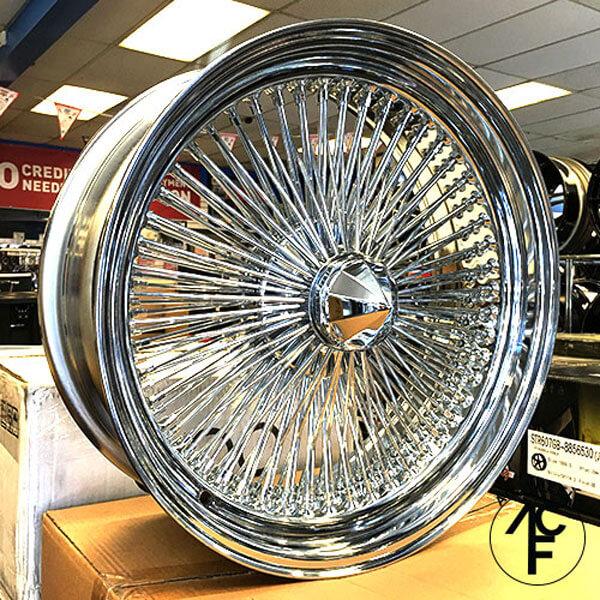 "1992 Buick Roadmaster >> 22x8"" Wire Wheels Standard 150-Spoke Straight Lace Chrome Rims #WW047"