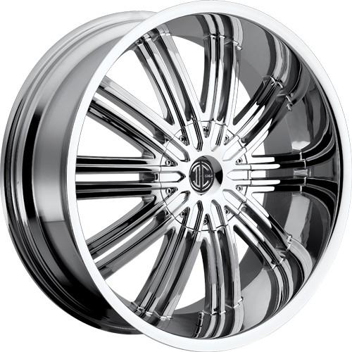 """22"""" 24""""  2Crave Wheels No.7 Chrome Rims"""