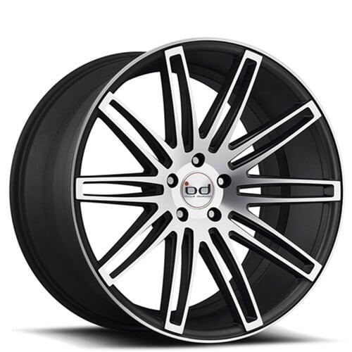 "20"" 22"" Blaque Diamond Wheels BD2 Black Machined Rims"