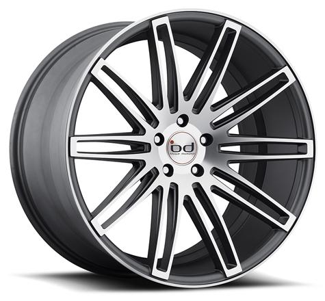 "20"" 22"" Blaque Diamond Wheels BD2 Graphite Machined Rims"