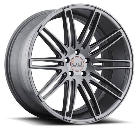 "20"" 22"" Blaque Diamond Wheels BD2 Graphite Rims"
