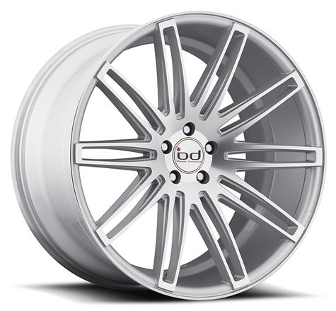 "20"" 22"" Blaque Diamond Wheels BD2 Silver Rims"