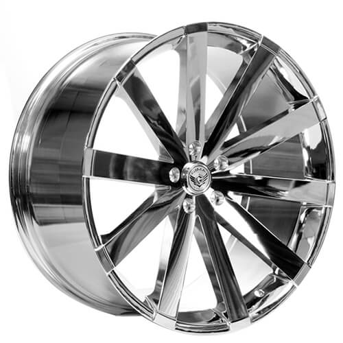 "22"" Staggered Gima Wheels Paradox Chrome Deep Concave Rims"