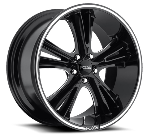 """20"""" inch Foose Wheels Rims Knuckle Buster Bk Free Shipping"""