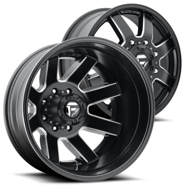 "Cleaver 2001: 20"" Fuel Wheels D538 Maverick Dually Matte Black Milled"
