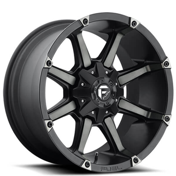 """20"""" Fuel Wheels D556 Coupler Black Machined with Dark Tint Off-Road Rims"""