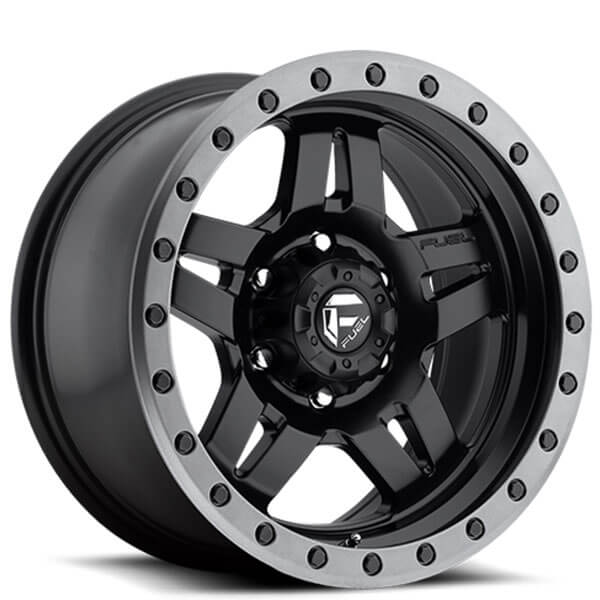 16 Fuel Wheels D557 Anza Matte Black With Grey Ring Off Road Rims