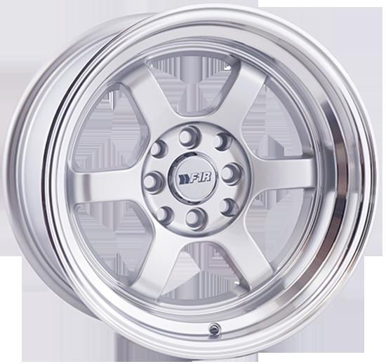 "15"" F1R Wheels F05 Silver JDM Style Rims #FOR026-1"